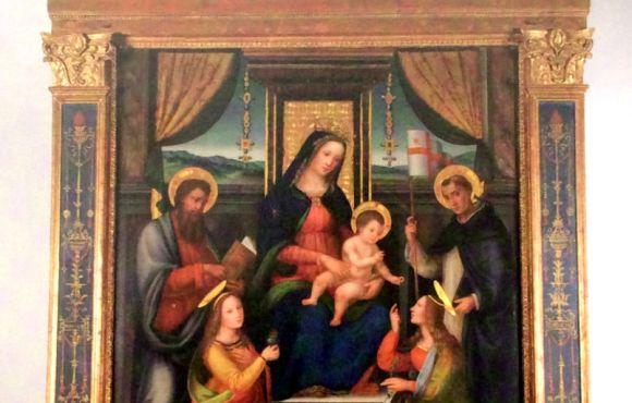Madonna con Bambino e i Santi Lucia, Bartolomeo, Pietro Martire e Caterina d'Alessandria
